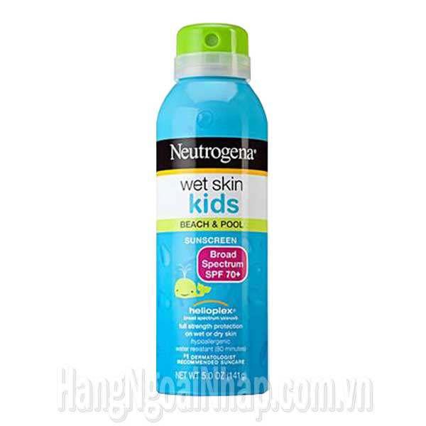 Kem Chống Nắng Dạng Xịt Neutrogena Wet Skin Kids Spf 70+