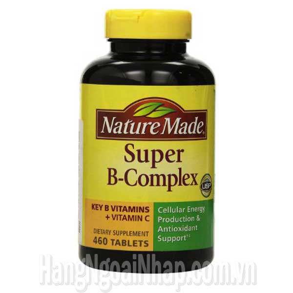 Super B Complex Key B Vitamins Vitamin C Nature Made 460 Viên