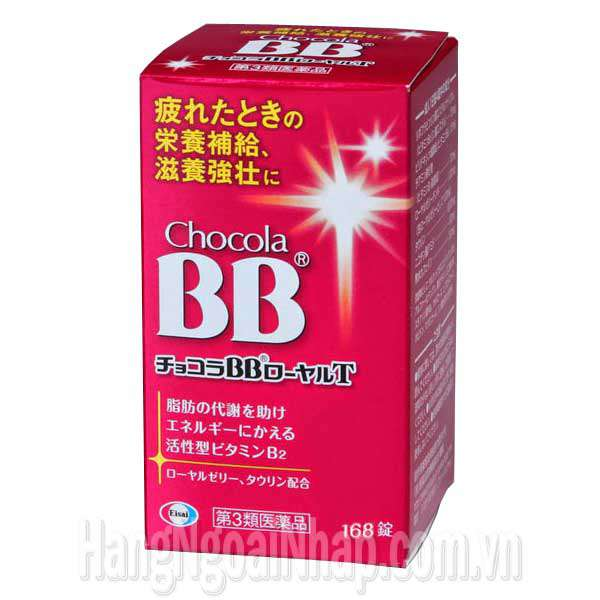 Viên Uống Bổ Sung Dinh Dưỡng BB Chocola Royal T Vitamin B2 168 Viên