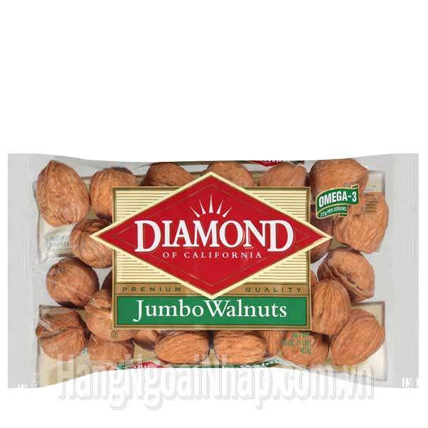 Hạt Óc Chó Diamond Nguyên Vỏ Gói 453g Của Mỹ