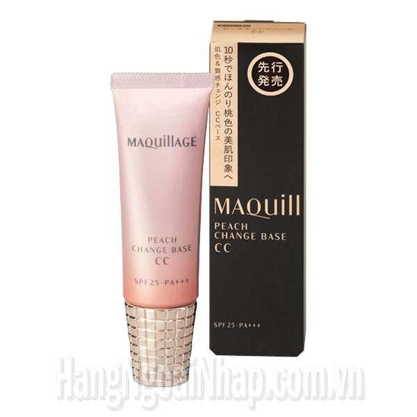 Kem Lót Đa Năng Shiseido Maquillage Peach Change Base CC Spf 25