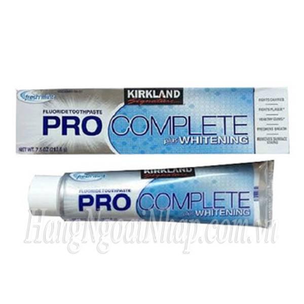 Kem Đánh Răng Kirkland Pro Complete Plus Whitening 212.6g Của Mỹ