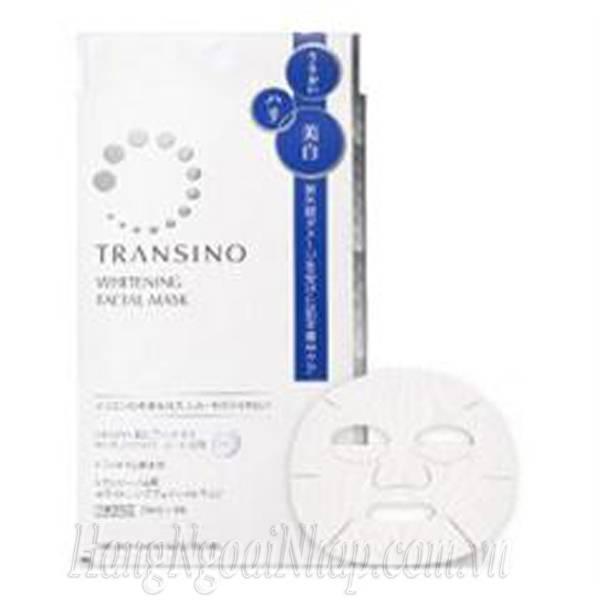 Mặt Nạ Dưỡng Trắng Da Transino  Whitening Facial Mask 4 Miếng Của Nhật