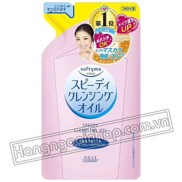 Túi dầu tẩy trang Refill Kose Softymo Cleansing Oil của Nhật Bản 200ml