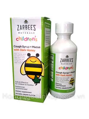 Siro trị ho Zarbee's Naturals Children's Cough Syrup cho trẻ trên 1 tuổi