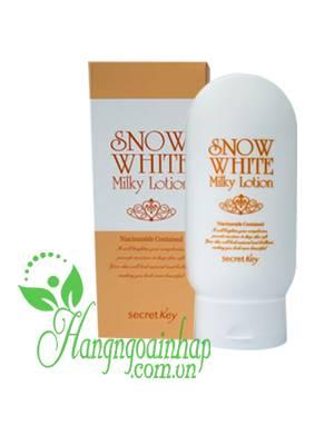 Kem dưỡng trắng da Secret Key Snow White Milky Lotion của Hàn Quốc