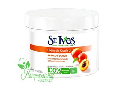 Kem tẩy tế bào chết St.Ives Blemish Control Apricot Scrub 283g của Mỹ