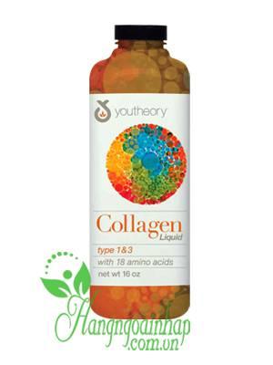 Youtheory Liquid Collagen 5000mg dạng nước type 1 & 3 của Mỹ 414ml