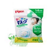Khẩu trang diệt khuẩn hình gấu Pigeon của Nhật Bản set 7 cái