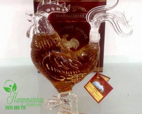 Rượu con gà trống Cognac 500ml của Nga - quà tặng tết Đinh Dậu 2017