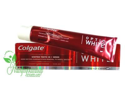 Kem đánh răng Colgate Optic White 141g của Mỹ giá rẻ