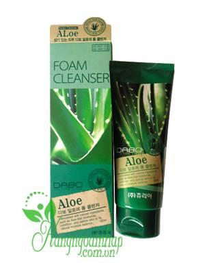 Sữa rửa mặt lô hội Hàn Quốc cao cấp Dabo Aloe Foam Cleanser 180ml