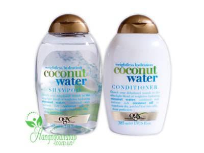 Bộ dầu gội xả Ogx Weightless Hydration Coconut Water 385ml của Mỹ