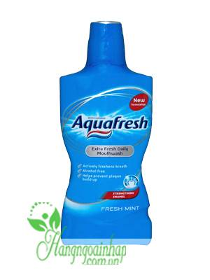 Nước súc miệng Aquafresh hương bạc hà 500ml của Anh