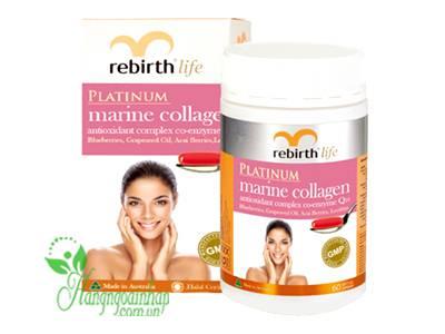 Viên uống Rebirth Platinum Marine Collagen 1000mg 60 viên của Úc