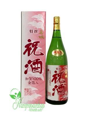 Rượu Sake Vẩy Vàng Alzu Homare Honjozo Kinpaku Shu 1.8 Lít