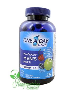Kẹo Vitamin One A Day Men's Vitacraves Gummies của Mỹ 230 viên