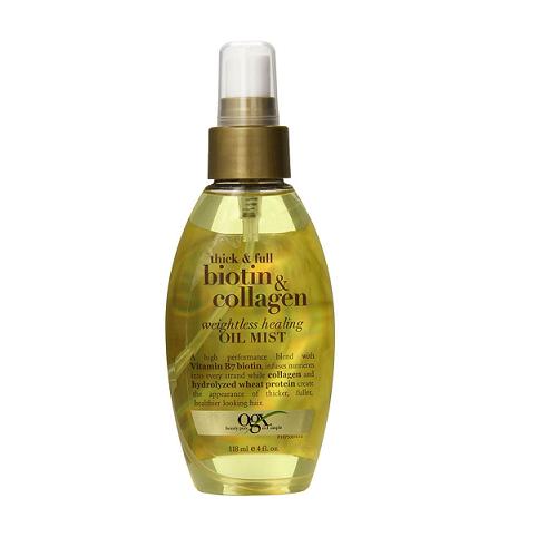 Tinh dầu dưỡng tóc, trị rụng tóc Organix Thick & Full Biotin & Collagen