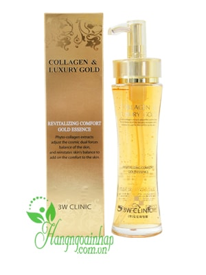 Serum gel dưỡng tái tạo da Collagen & Luxury Gold cao cấp 3W Clinic 150ml