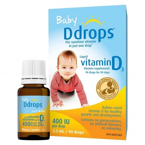 Thuốc nhỏ Baby Ddrops Vitamin D3 400 I.U 90 Giọt Cho Bé Sơ Sinh Của Mỹ
