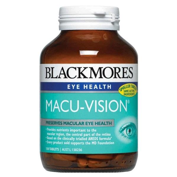 Thuốc bổ mắt Blackmores Macu-Vision của Úc 150 Viên
