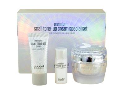Set kem ốc sên dưỡng trắng da Goodal Premium Snail Tone Up Cream