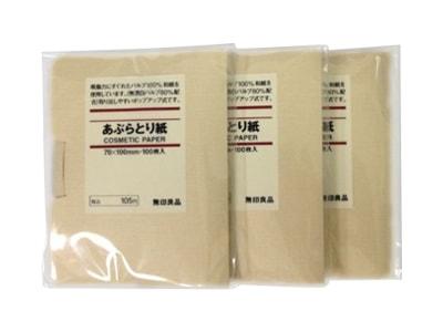 Giấy Thấm Dầu Muji Cosmetic Paper 100 tờ của Nhật Bản