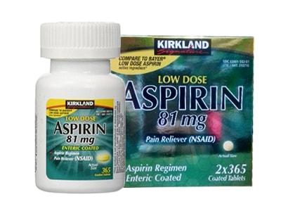 Viên uống giảm đau Kirkland Low Dose Aspirin của Mỹ 2x365 viên