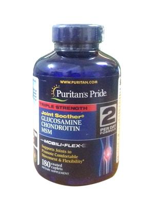 Viên uống hổ trợ xương khớp Puritan's Pride Glucosamine 180 viên