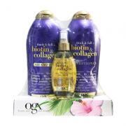 Set gội xả OGX Biotin & Collagen tặng kèm xịt dưỡng tóc của Mỹ
