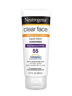 """kem chống nắng neutrogena clear face spf 55 """"chính hãng"""" Mỹ"""