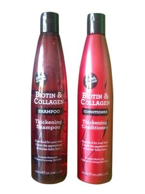 Bộ gội xả Biotin & Collagen Thickening màu đỏ 400ml của Mỹ