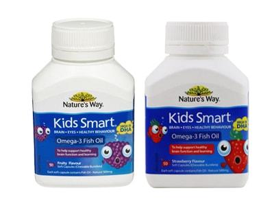 Kids Smart Omega 3 Fish Oil - Dầu Cá Của Úc Lọ 50 Viên