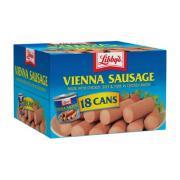 Xúc xích đóng hộp Libbys Vienna Sausage thùng 18 lon của Mỹ