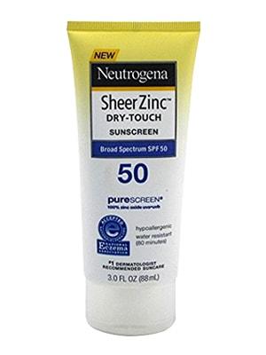 Kem chống nắng Neutrogena Sheer Zinc Dry-Touch Sunscreen SPF 50