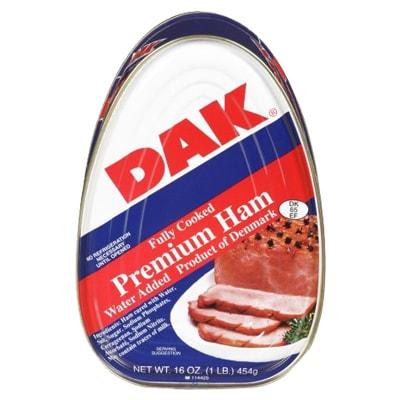 Thịt hộp cao cấp Dak Premium Ham 454g của Mỹ