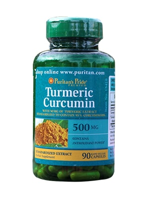 Tinh chất nghệ vàng Puritan's Pride Turmeric Curcumin 500mg 90 viên