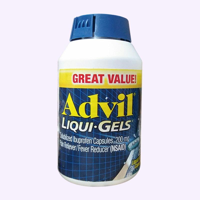 Viên uống giảm đau Advil Liqui Gels 200mg hộp 200 viên của Mỹ