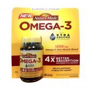 Viên uống Nature Made Omega-3 Xtra Absorb 80 viên của Mỹ
