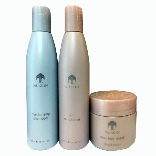 Bộ 3 sản phẩm dầu gội, xả và kem ủ tóc Nuskin Moisturizing