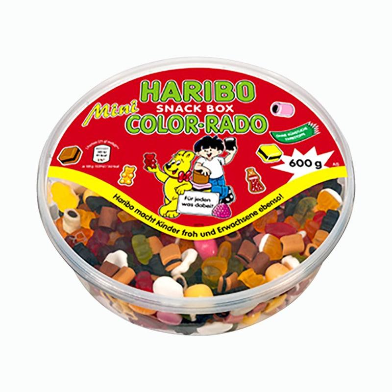 Kẹo dẻo Haribo Snack Box Color-Rado 600g của Đức