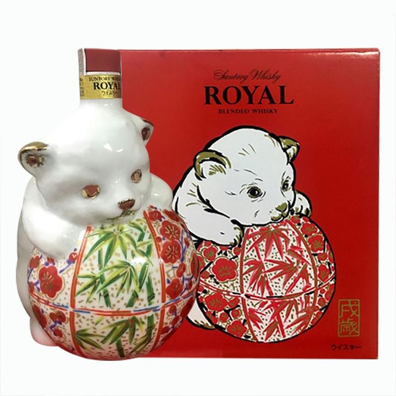 Rượu con chó Whisky Suntory Royal 600ml của Nhật Bản