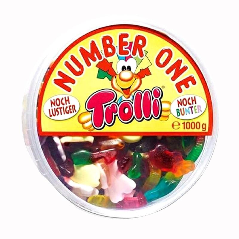 Kẹo dẻo hình con thú Trolli Number One của Đức