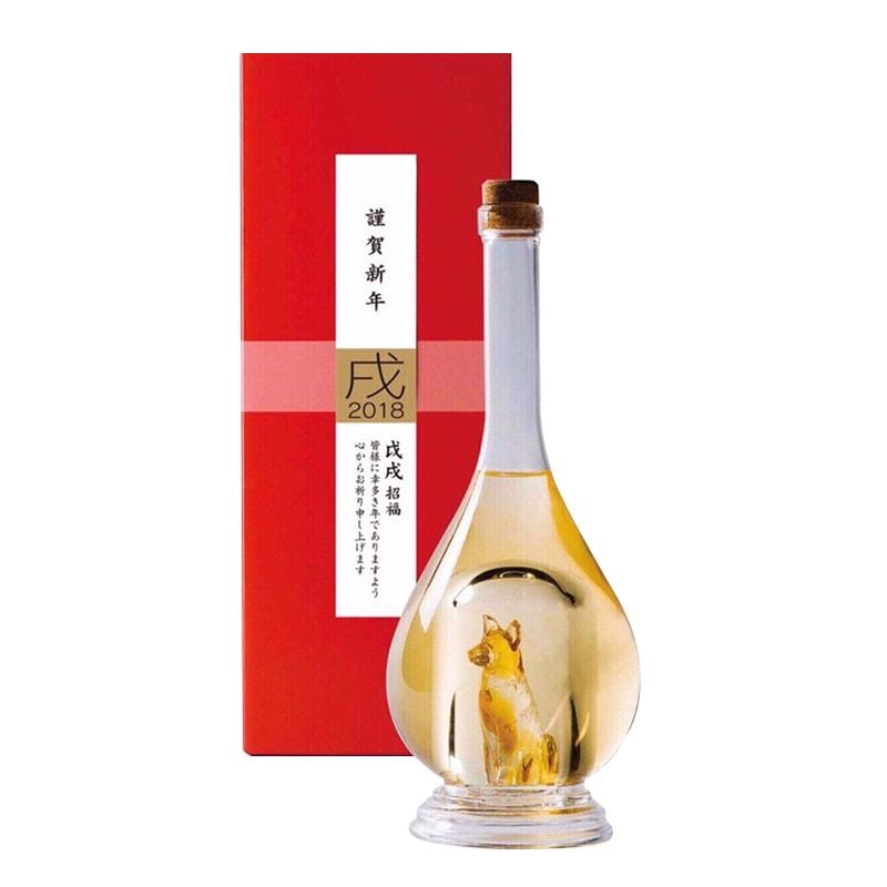 Rượu có hình con chó vàng Sake Yatsushika 500ml xách tay Nhật Bản