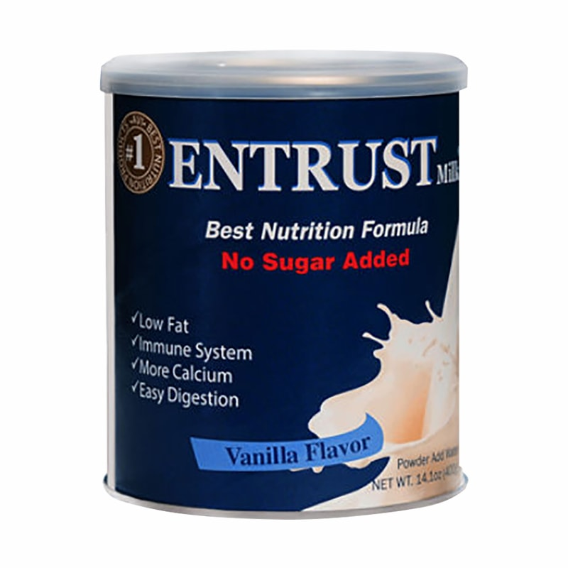 Sữa bột không đường Entrust Milk Hộp 400g của Mỹ