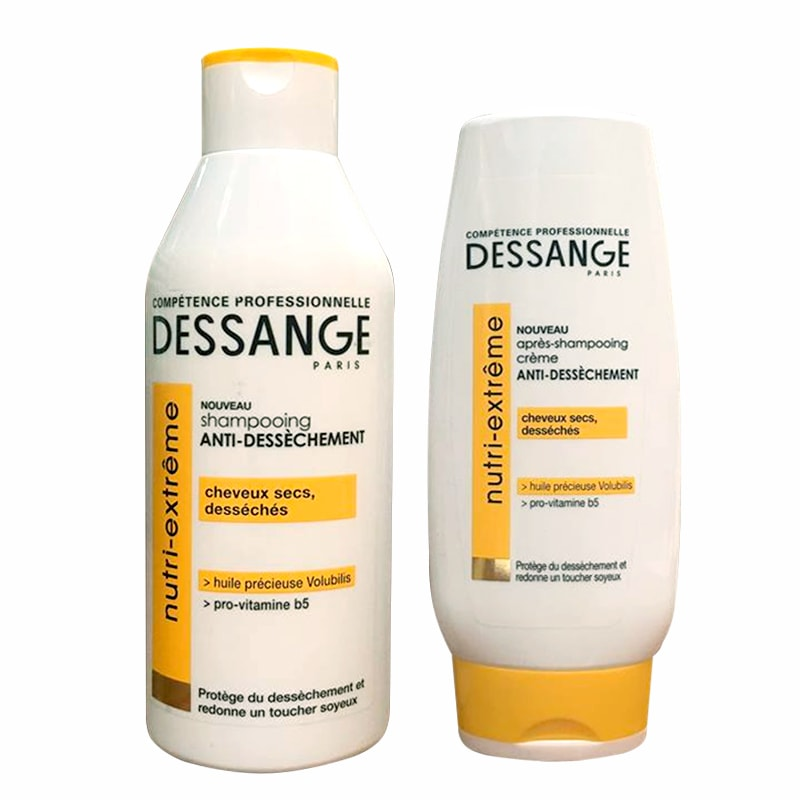 Bộ dầu gội xả Dessange Nutri-Extreme của Pháp, dành cho tóc hư tổn