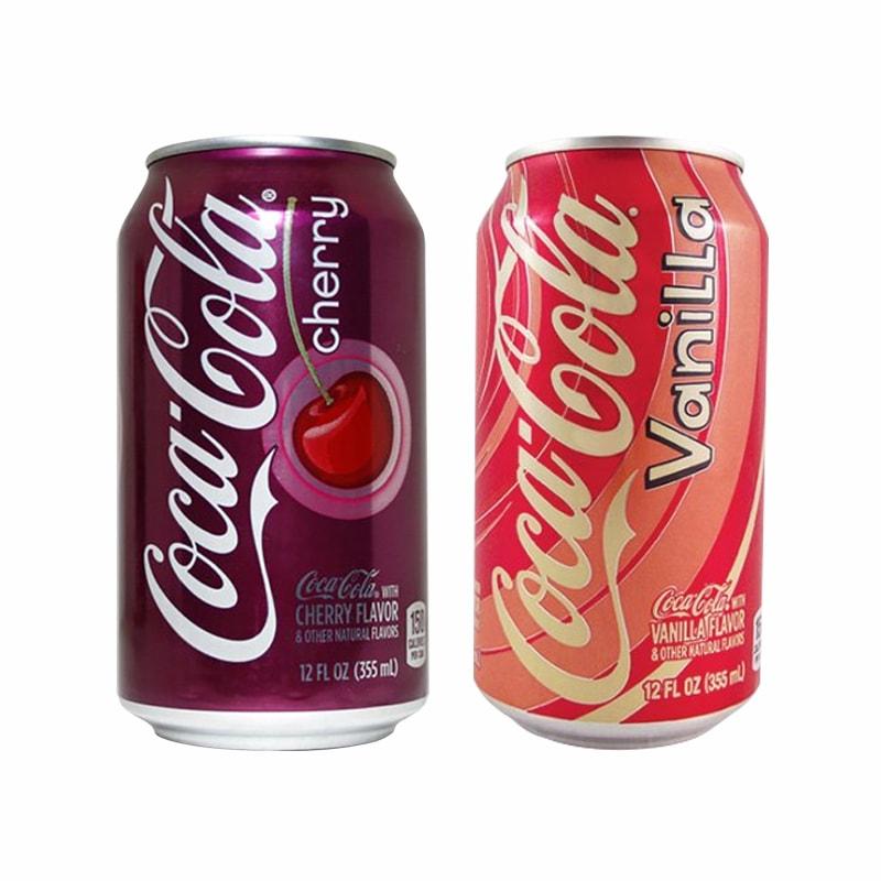 Nước ngọt Coca Cola cherry and vanilla 355ml thùng 12 lon Mỹ