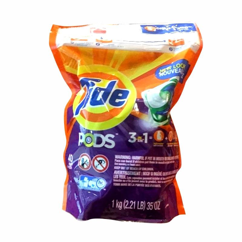 Viên giặt Tide Pods 3 in 1 gói 40 viên của Mỹ