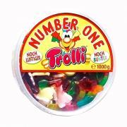 Kẹo dẻo hình con thú Trolli Number One 1000g của Đức