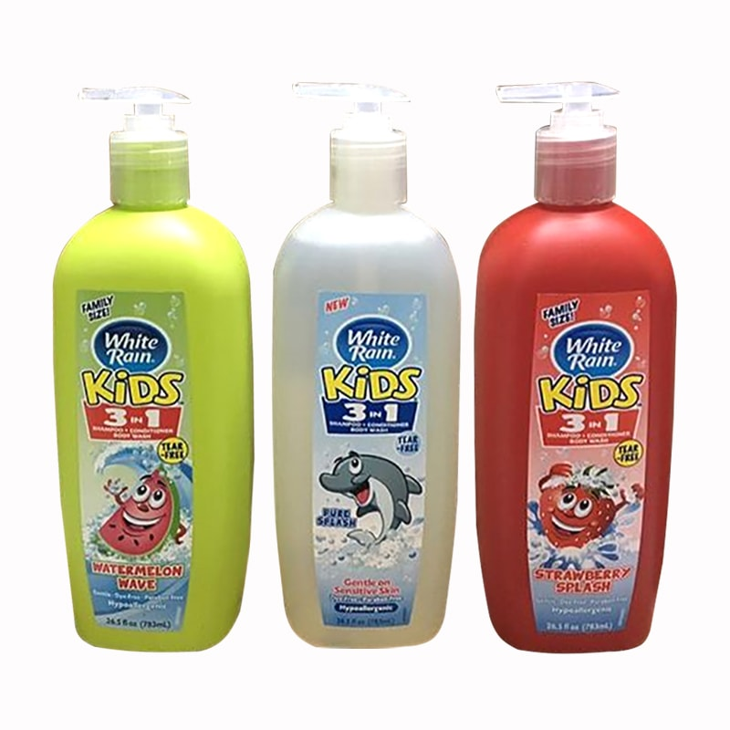 Sữa tắm gội xả cho bé White Rain Kids 3 in 1 783ml của Mỹ